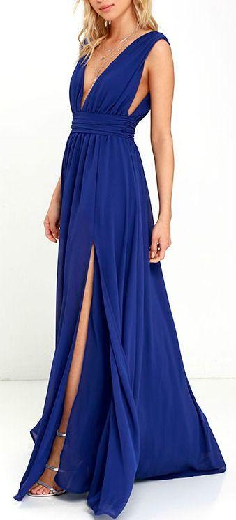 Свадьба - Heavenly Hues Royal Blue Maxi Dress