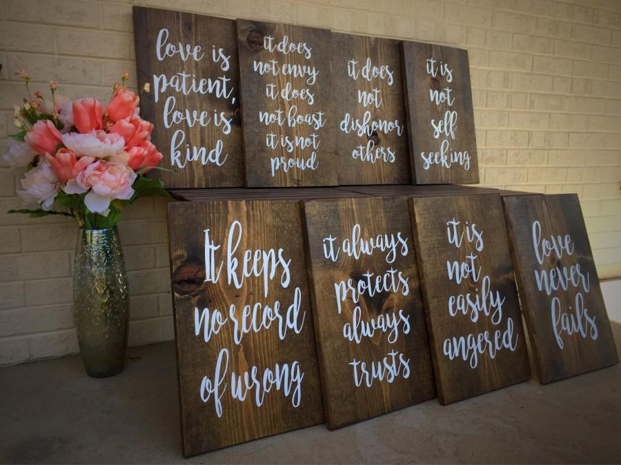 Love Is Patient, Love Is Kind Aisle Signs #2770489
