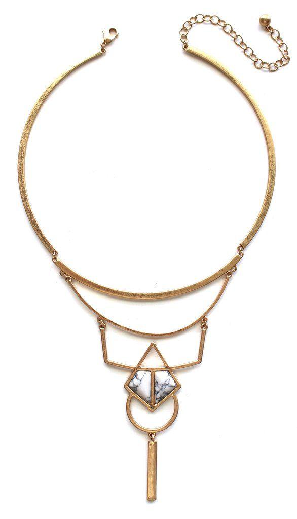Hochzeit - Ellie Stone Bib Necklace