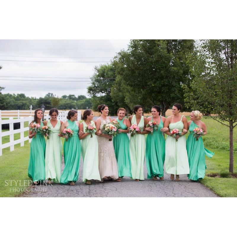 """Свадьба - Princess Cut Bridesmaids Gowns - Full, fabulous, flowing """"Infinity"""" style gowns available in hundreds of colors - Hand-made Beautiful Dresses"""