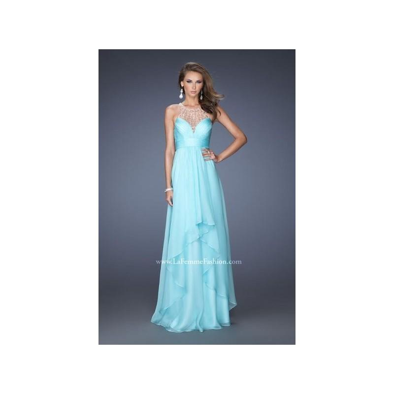 Wedding - La Femme 20060 Tiered Chiffon Halter Gown - Brand Prom Dresses
