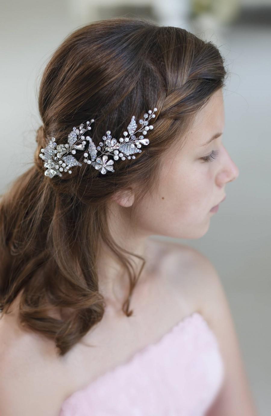 Hochzeit - Bridal hair pins Wedding hair pins Crystal hair pins Rhinestone hair pins Rhinestone hair accessories Wedding hair piece Crystal hair piece