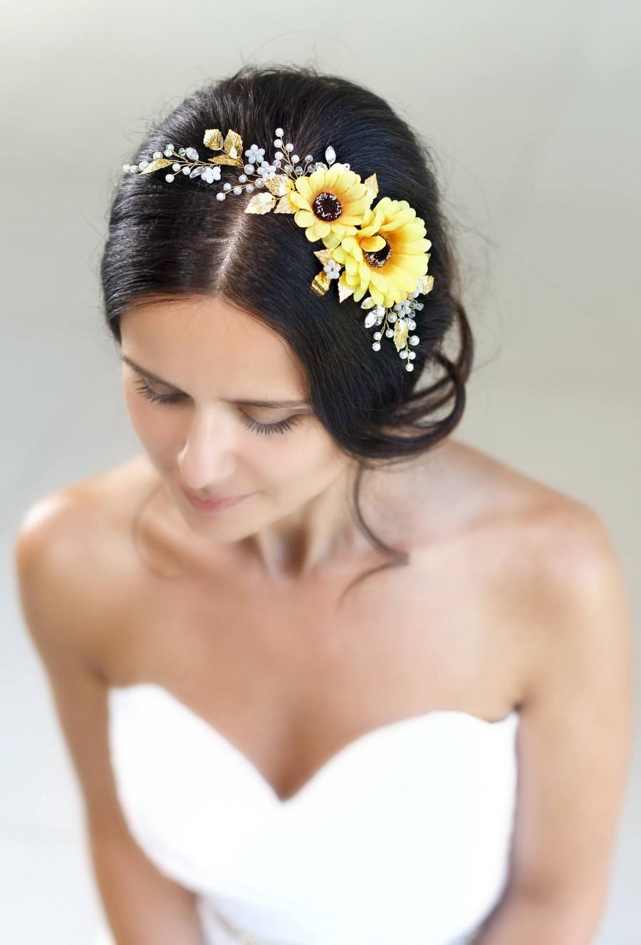 Sunflower Flower Crown Sunflower Headband Yellow Flower Crown