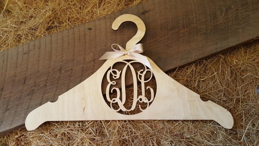 Wedding - Personalized Wedding Dress Hanger - Bridal Dress Hanger - Monogram Hanger