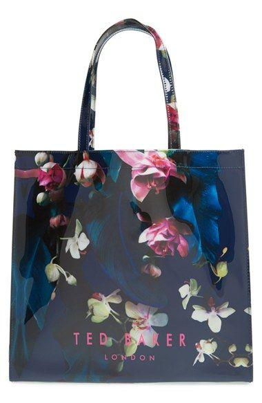 Hochzeit - Ted Baker London 'Large Icon' Floral Tote
