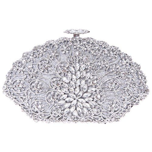 زفاف - Luxury Crystal Clutch Bag