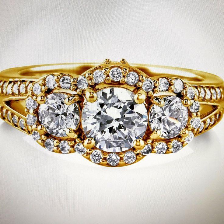 زفاف - A Perfect 1CT Round Cut Lab Diamond Engagement Anniversary Ring