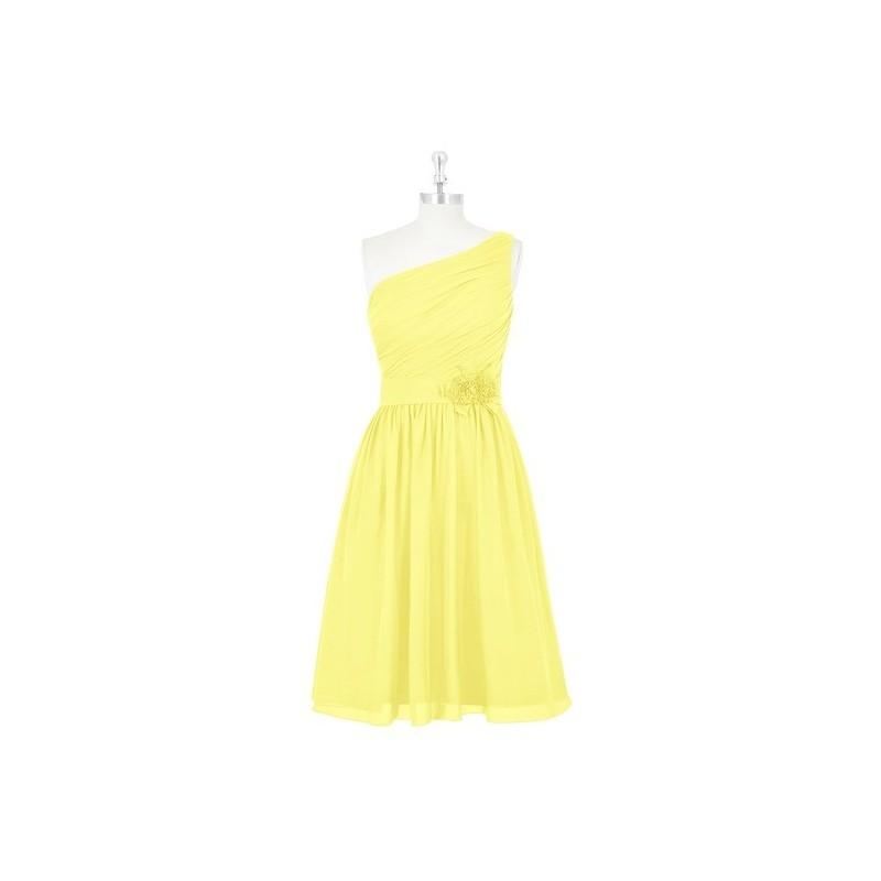 Hochzeit - Lemon Azazie Christina - Chiffon Side Zip Knee Length One Shoulder Dress - Cheap Gorgeous Bridesmaids Store