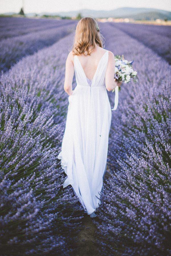 Mariage - Amazing Lavender Fields Real Wedding