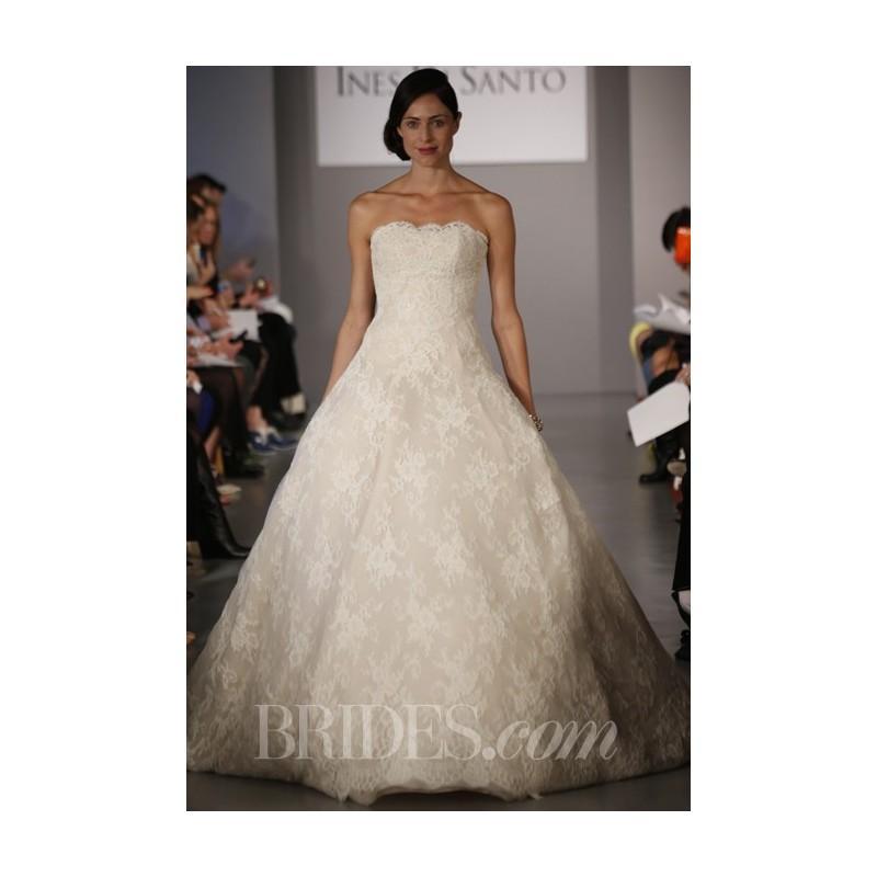 Wedding - Ines Di Santo - Spring 2014 - Esme Strapless Lace A-Line Wedding Dress - Stunning Cheap Wedding Dresses