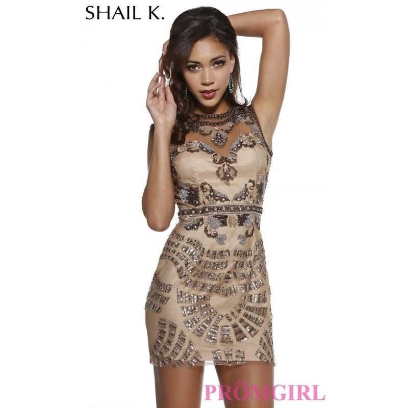 Mariage - Short Beaded Shail K Homecoming Dress - Brand Prom Dresses