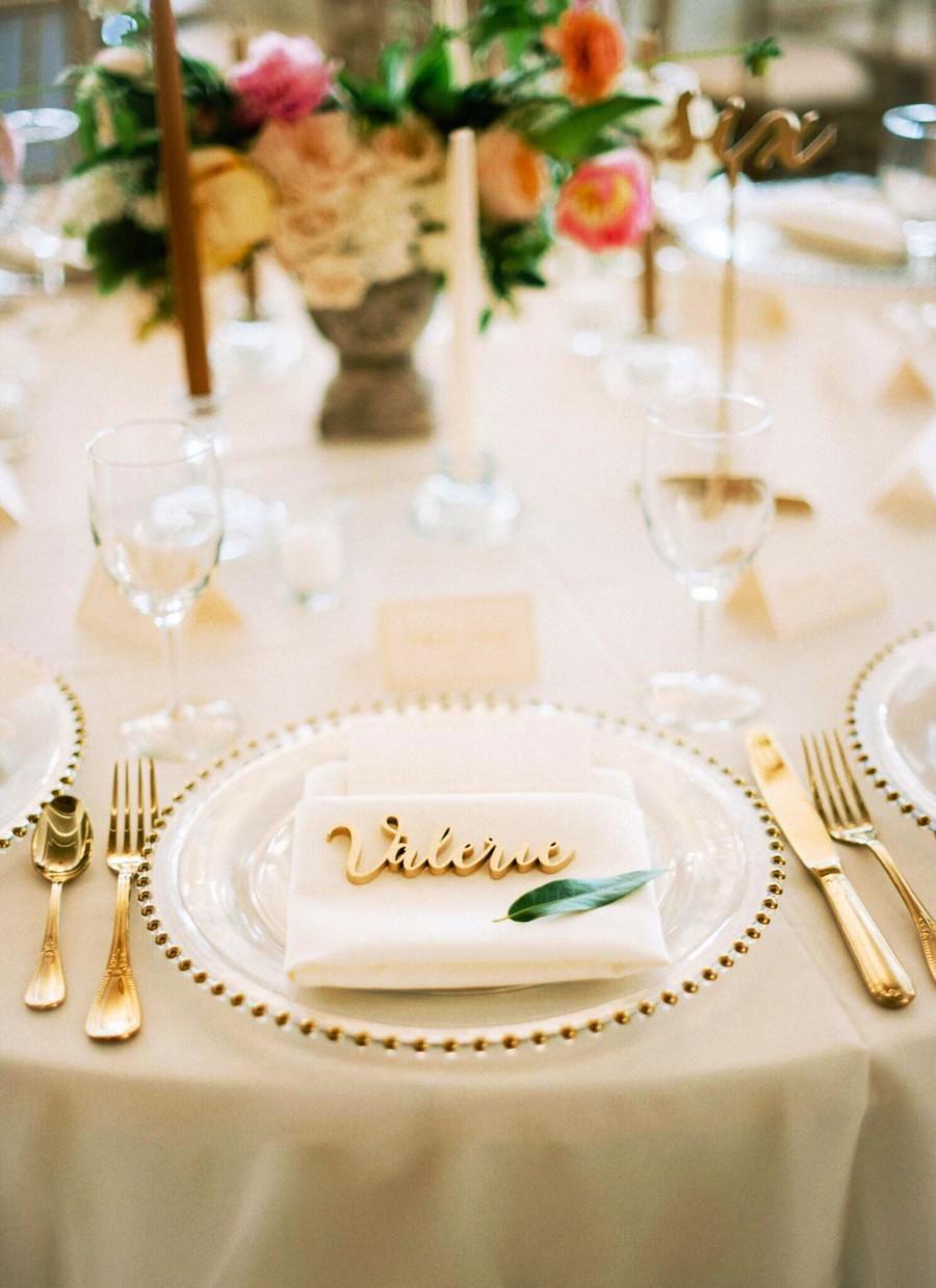 Mariage - Wedding wood place names. Wedding favors,