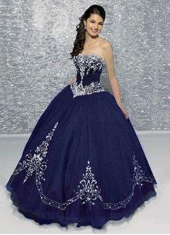 Свадьба - Ball-Gown Sweetheart Floor-Length Organza Quinceanera Dress With Embroidered Beading