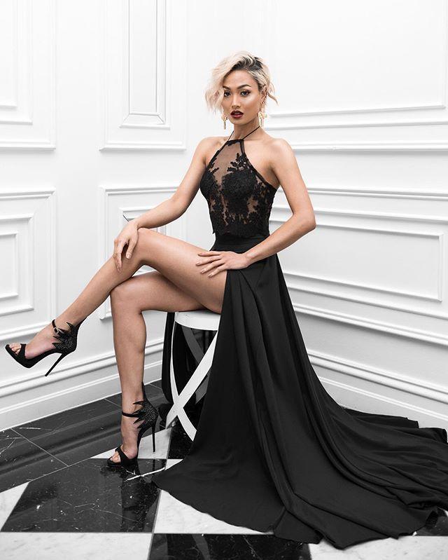 Wedding - Sexy Prom Dress,Black Prom Dress,Hi