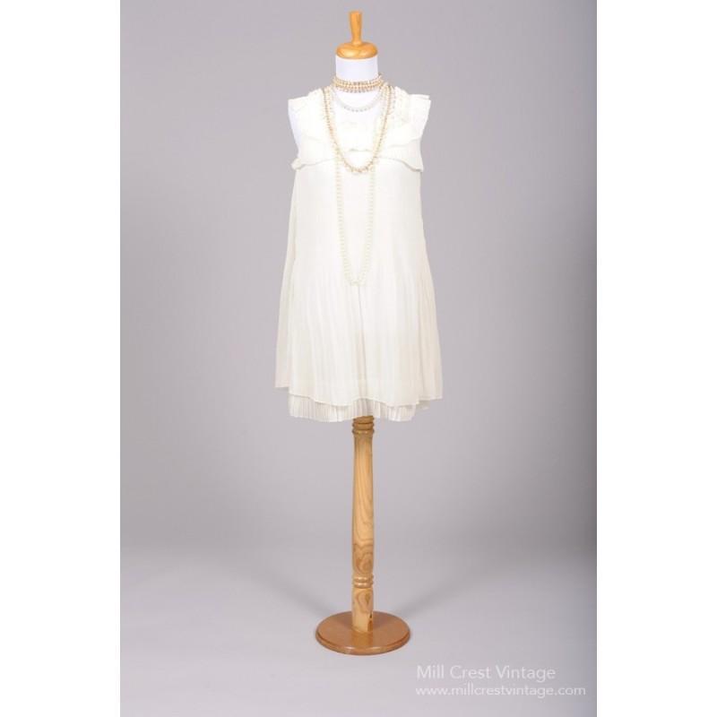 Mill Crest Vintage 1980 Ruffled Mini Vintage Wedding Dress