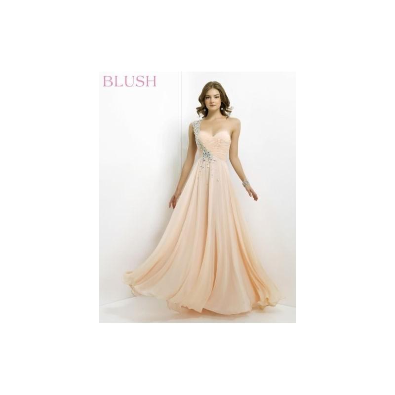 Blush 9760 Brilliant Pleated Bra Formal Dress - Brand Prom Dresses ...