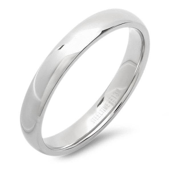 Mariage - Wedding Band - Stainless Steel and 18k Gold Plated-Engravable