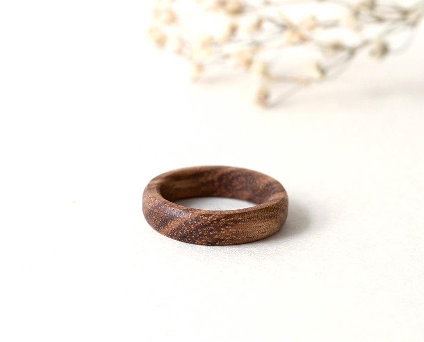 زفاف - Zebra Wood Ring, Wood Ring, Wood Women Band, Wedding Rings, Wooden Wedding Jewelry, Zebrano Wood Jewelry, Personalized Ring, Custom Ring