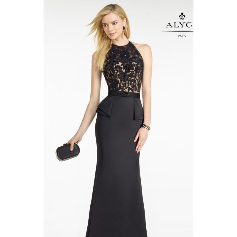 Свадьба - Black/Nude Lace Peplum Gown by Alyce Black Label - Color Your Classy Wardrobe