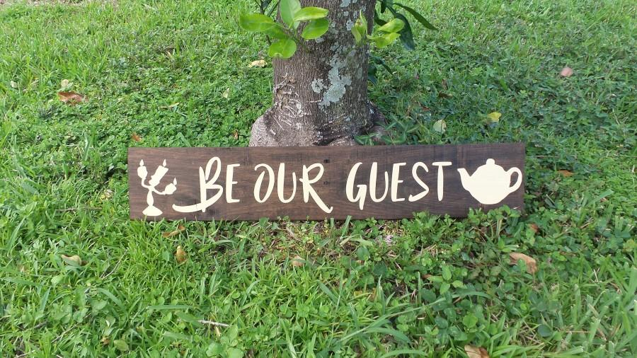 Be our guest sign beauty and the beast disney wedding decorations be our guest sign beauty and the beast disney wedding decorations quote wood sign handmade home decor kids wedding gift anniversary junglespirit Gallery