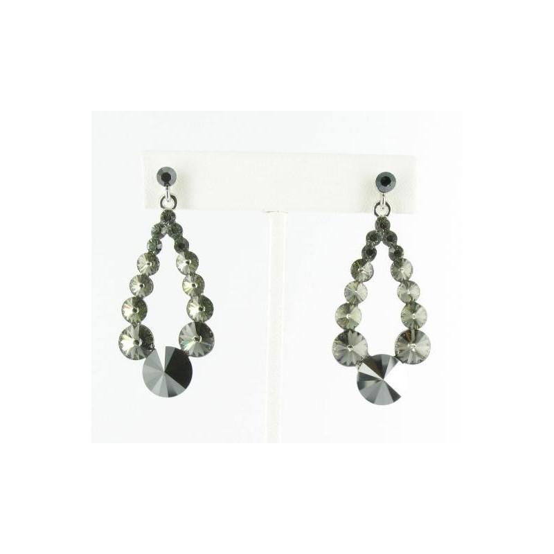 Свадьба - Helens Heart Earrings JE-X006373-S-Hematite-Black Helen's Heart Earrings - Rich Your Wedding Day