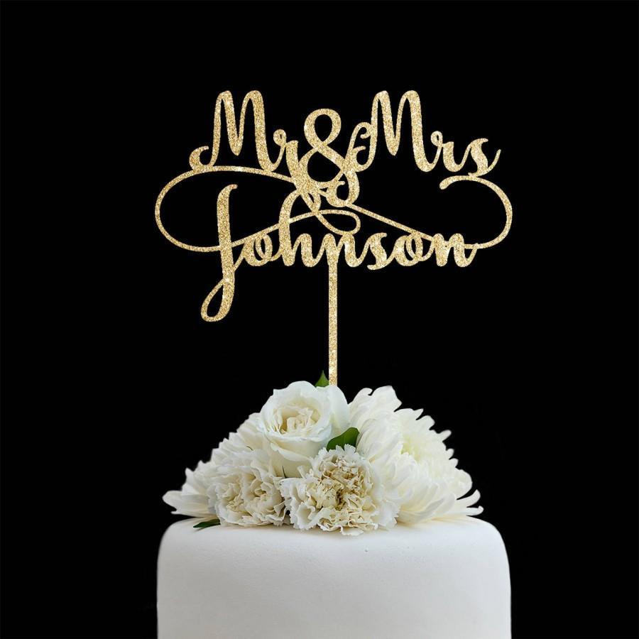 زفاف - Customized Wedding Cake Topper, Personalized Cake Topper for Wedding, Custom Personalized Wedding Cake Topper, Last Name Cake Topper # 06