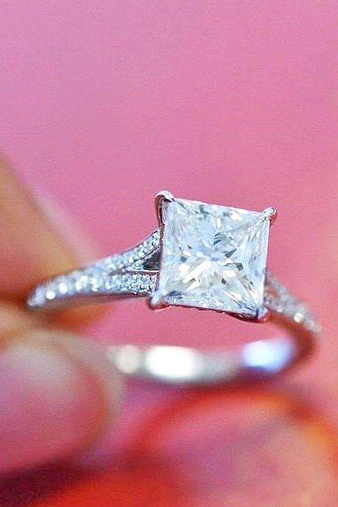 Mariage - 21 Breathtaking Princess Cut Engagement Rings