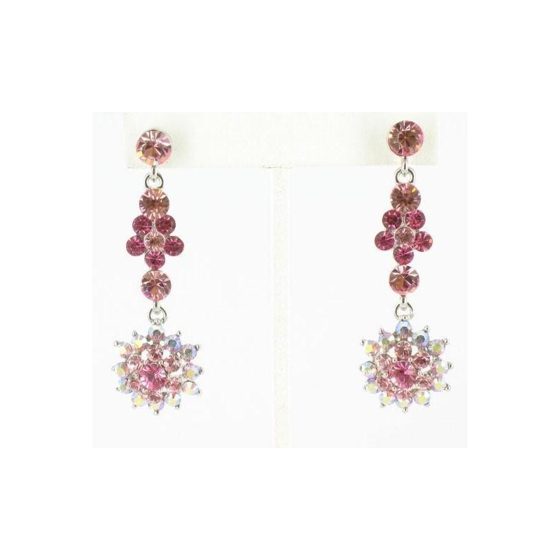 Свадьба - Helens Heart Earrings JE-X004418-S-Pink Helen's Heart Earrings - Rich Your Wedding Day