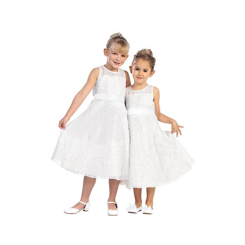 Свадьба - A-Line Flower Lace Glitter Dress Style: D5600 - Charming Wedding Party Dresses