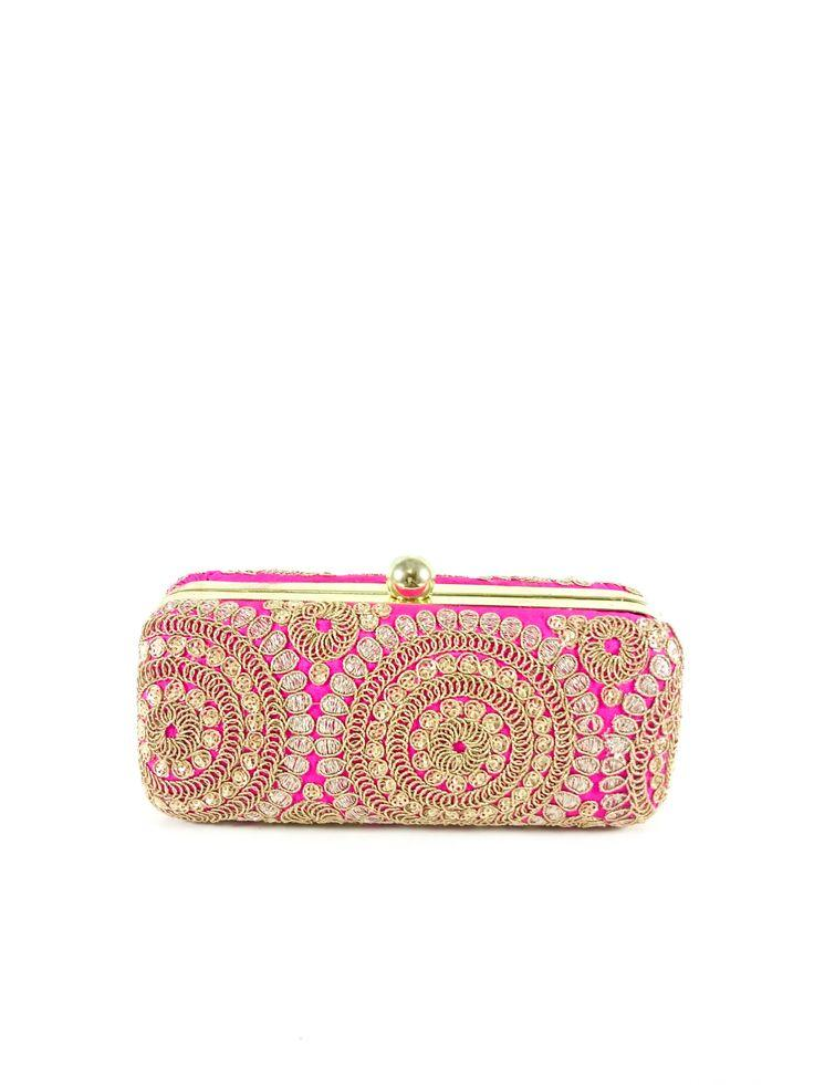 Wedding - Pink Mandala Clutch