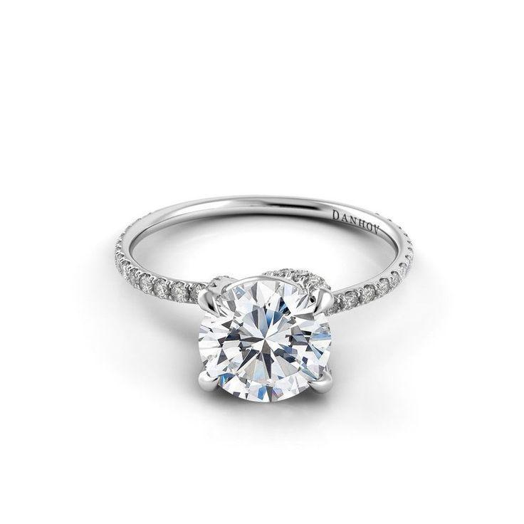 Mariage - Danhov Eleganza Diamond Embedded Twisted Prong Engagement Ring