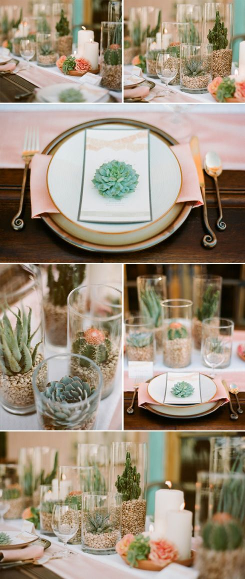 Wedding - Centerpiece Idea From Green Wedding Shoes