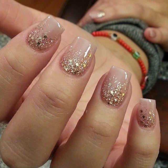 زفاف - Beautiful Nude Nail With Sparkle!! Go Fallow @thenailboss On Intragram