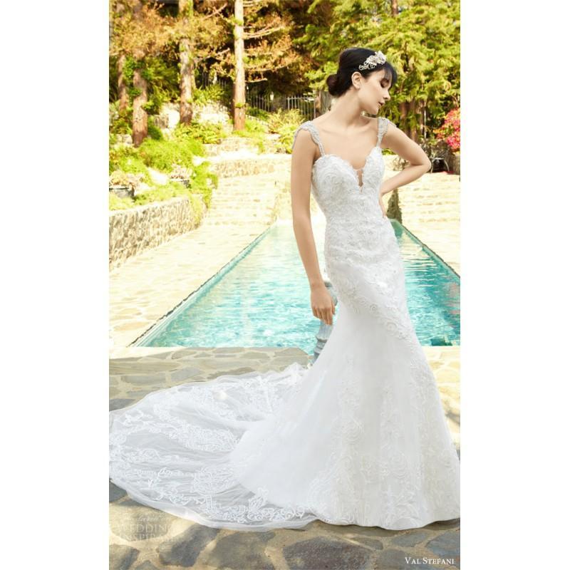 Wedding - Val Stefani D8132 CAMELIA Fall/Winter 2017 Dress For Bride Lace Fall Sleeveless Sweet Sweetheart Dress For Bride - Stunning Cheap Wedding Dresses