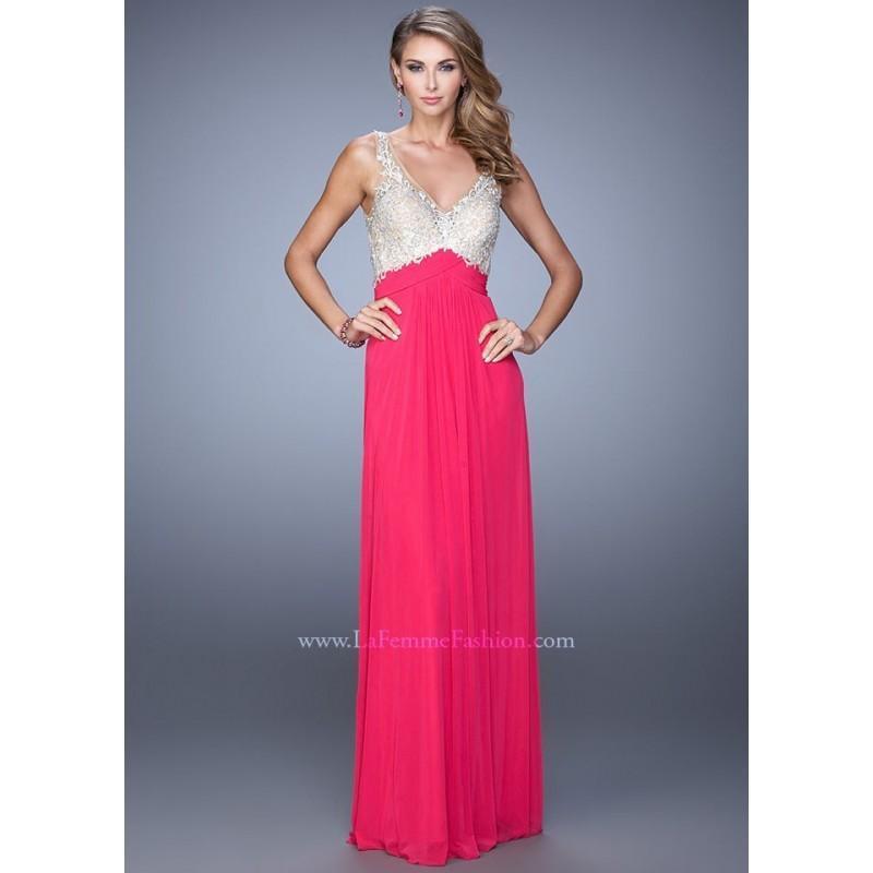 Mariage - La Femme 21223 Vibrant V-Neck Dress - 2017 Spring Trends Dresses