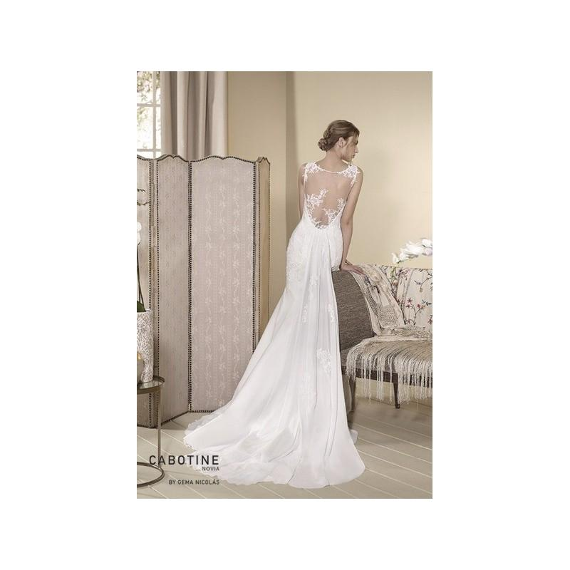 vestido de novia de cabotine modelo amapola espalda - 2017 sirena