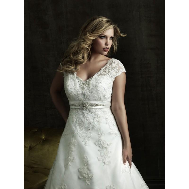 Hochzeit - Allure Bridal Plus Sizes  - Style W271 - Elegant Wedding Dresses