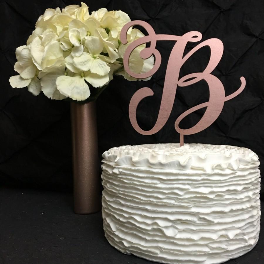 Monogram Cake Topper, Letter Cake Topper, Wedding Cake Topper
