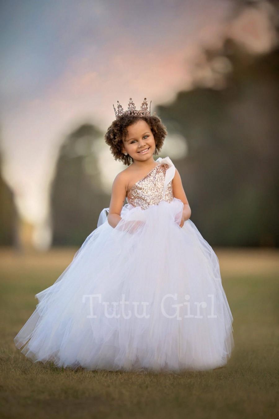 Свадьба - Flower Girl Dress, Rose Gold Flower Girl Dress, Flower Girl Dresses