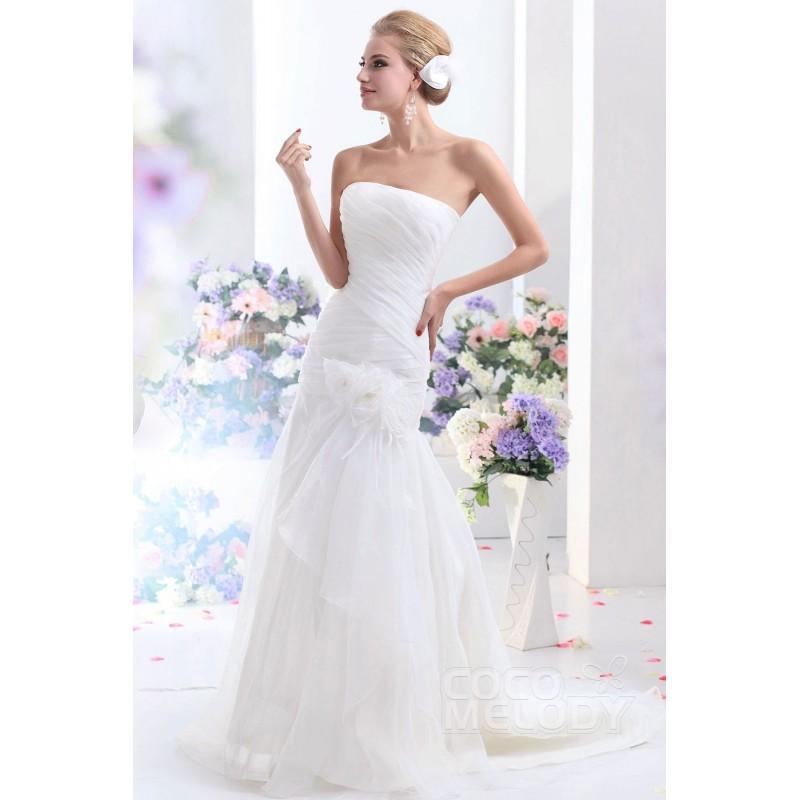 Hochzeit - Hot Sale Trumpet-Mermaid Strapless Dropped Waist Court Train Organza Wedding Dress CWLT130D6 - Top Designer Wedding Online-Shop