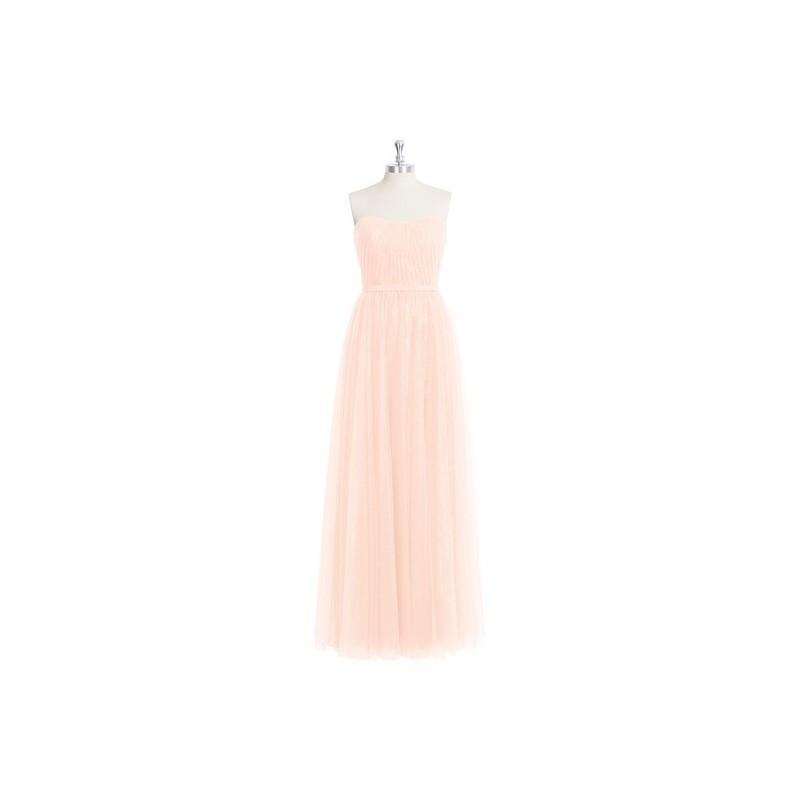 Mariage - Pearl_pink Azazie Kayley - Sweetheart Tulle, Lace And Chiffon Floor Length Back Zip Dress - Cheap Gorgeous Bridesmaids Store