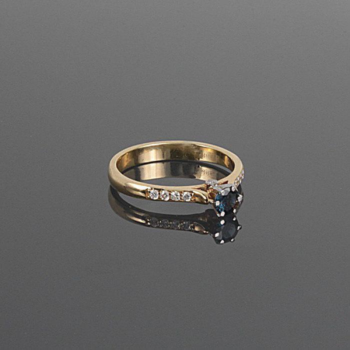 Свадьба - Sapphire ring, Sapphire engagement ring, Blue engagement ring, 14k engagement ring, Yellow engagement ring, September birthstone