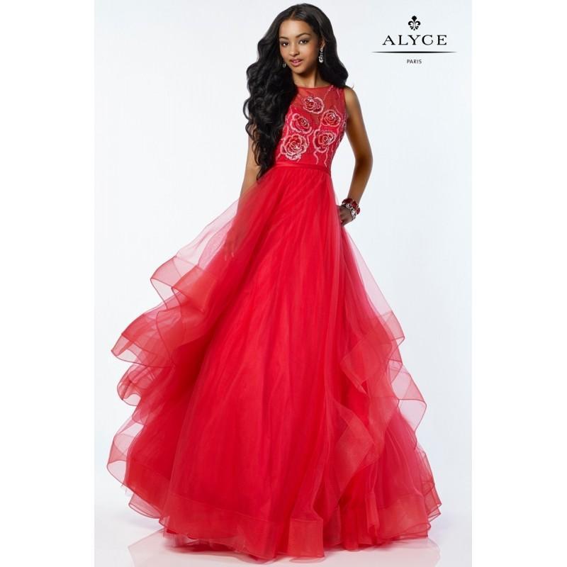 Wedding - Alyce 1232 Prom Dress - A Line Halter Alyce Paris Prom Long Dress - 2017 New Wedding Dresses