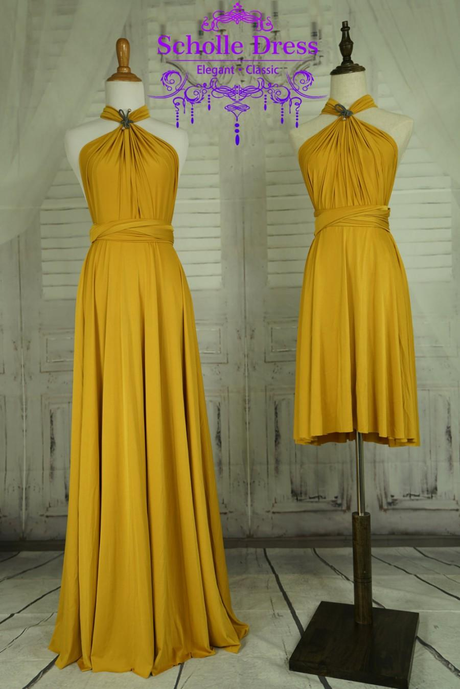 13caf92f6ac Mustard Dress,Bridesmaid Dress