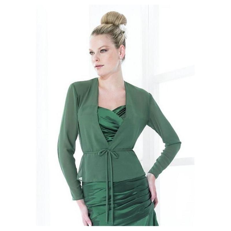 Hochzeit - Long Sleeves Chiffon Jacket Match Prom Dress - overpinks.com