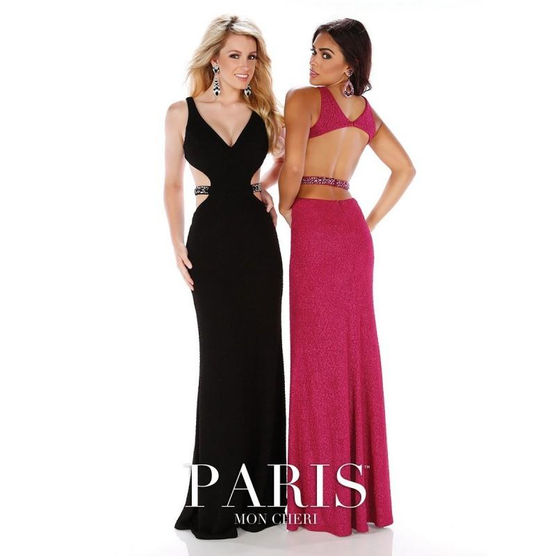 Wedding - Mon Cheri Paris 116779 Scooped Prom Dress - Long Fit and Flare V Neck Mon Cheri Paris Prom Dress - 2017 New Wedding Dresses