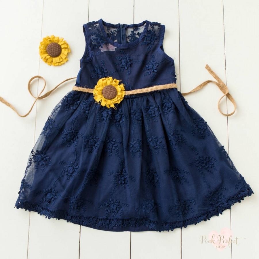 Flower Girl Dress Rustic Flower Girl Dresscountry Flower Girl