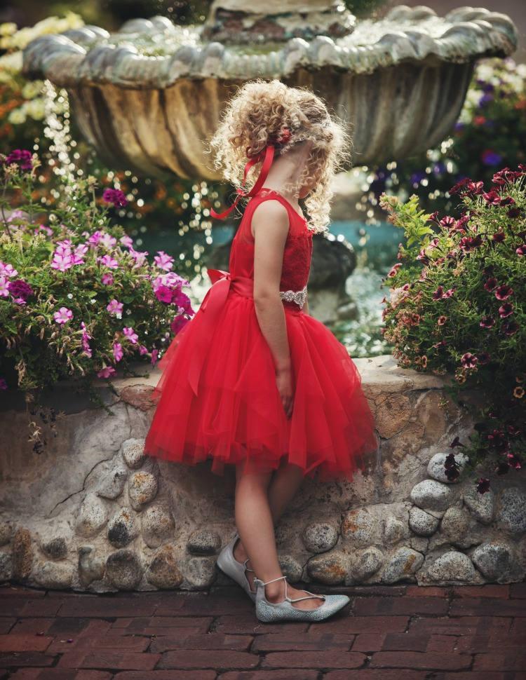 زفاف - Flower girls dress, Flower girl dresses, Red Christmas dress, Red Tulle Lace  Flower girl dress, baby Christmas dress,Girls Valentines dress