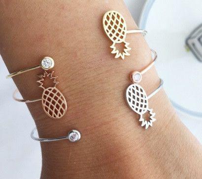 زفاف - Pineapple And Cubic Bracelet