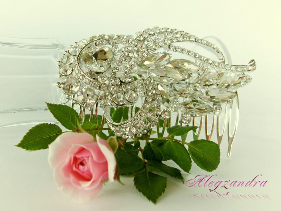 Wedding - Swarovski Crystals Bridal Hair Comb, Wedding Hair Pieces, Rhinestone Combs, Wedding Hair Accessories, Bridal Headpieces - $34.99 USD